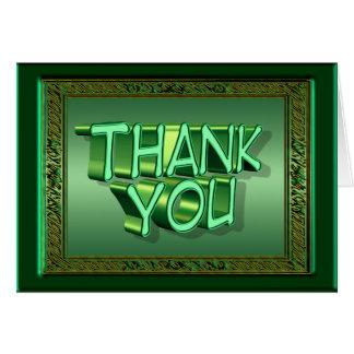 Ierse Groen dankt u kaardt Briefkaarten 0