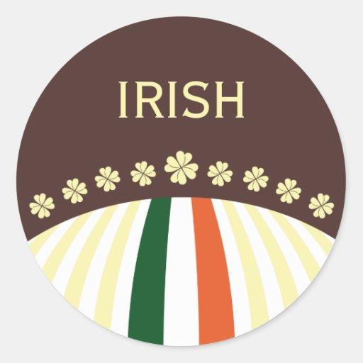Ierse Klaver met de Sticker van de Vlag