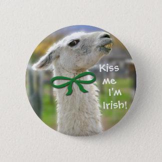 Ierse lama-Kus me ben ik Ierse St. Patrick Knoop Ronde Button 5,7 Cm