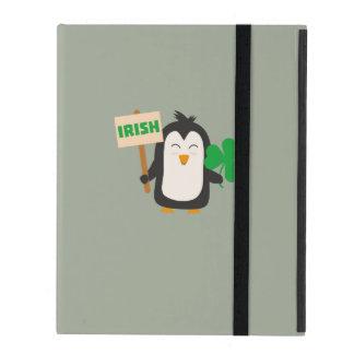 Ierse Pinguïn met klaver Zjib4 iPad Hoesje