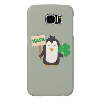 Ierse Pinguïn met klaver Zjib4 Samsung Galaxy S6 Hoesje
