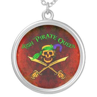Ierse Piraat Koningin Necklace Zilver Vergulden Ketting