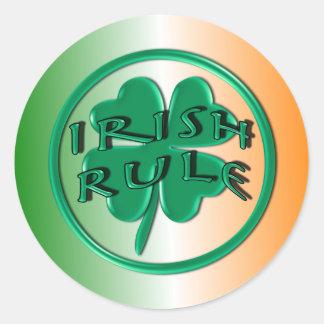 Ierse Regel - de Kleuren en de Klaver van Ierland Sticker