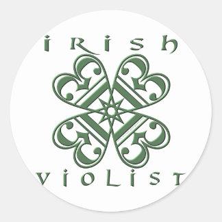 Ierse Violist Ronde Stickers