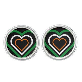 Ierse vlag-Geïnspireerde Cufflinks van het Hart Manchetknopen