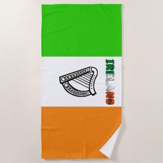 Ierse vlag strandlaken