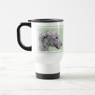 Ierse Wolfshond 2 die - het Leuke Originele Art. Reisbeker