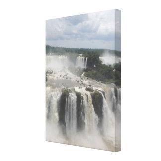 Iguaçu valt de Fotografie van het Landschap Canvas Print