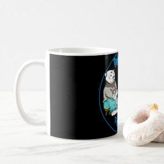 Ijsbeer die op een donkere nacht vissen! koffiemok
