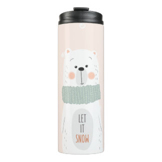 Ijsbeer - laat het sneeuwen - de Leuke Thermosbeker