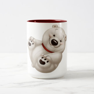 ijsbeer tweekleurige koffiemok