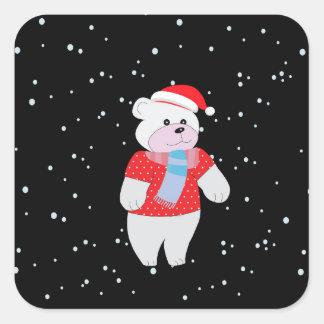 ijsbeer vierkante sticker