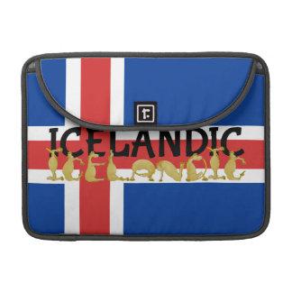 Ijslands Paard   Vlag van IJsland MacBook Pro Sleeve