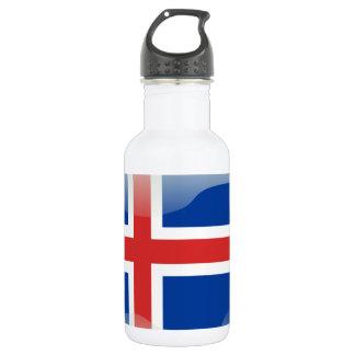 Ijslandse glanzende vlag waterfles