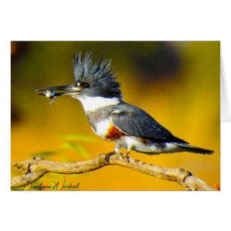 Ijsvogel die een vissenkaart houden briefkaarten 0