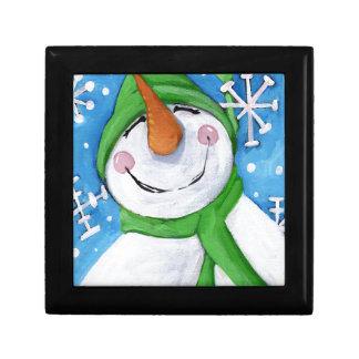 Ijzig de gelukkige sneeuwman decoratiedoosje