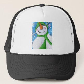 Ijzig de gelukkige sneeuwman trucker pet