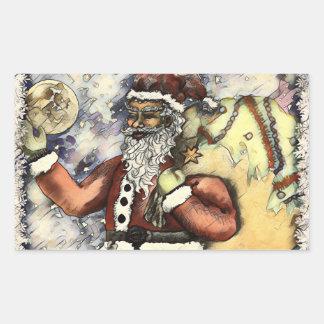 Ijzige Kerstman Rechthoekige Sticker