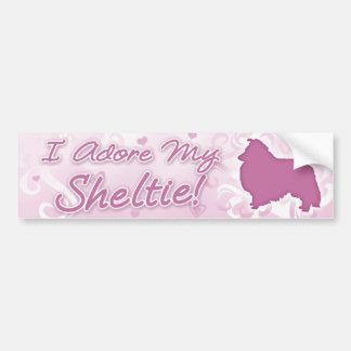 Ik aanbid mijn Sticker van de Bumper Sheltie