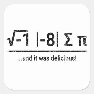 Ik at Één of ander Pi | vintage dark Vierkant Sticker