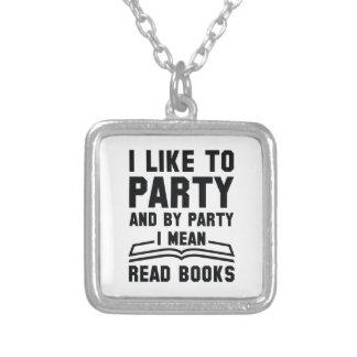 Ik bedoel Gelezen Boeken Zilver Vergulden Ketting