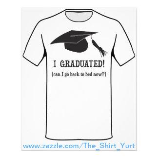 Ik behaalde een diploma!  Kan ik naar bed nu Flyer 11,4 X 14,2 Cm