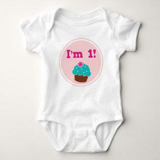 Ik ben 1 Verjaardag Cupcake Romper