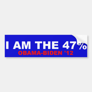 Ik ben 47% obama-Biden 2012 Bumpersticker
