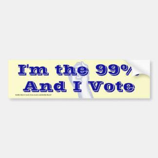 Ik ben 99% (en ik stem) bumpersticker