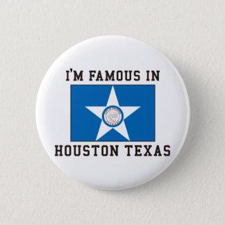Ik ben Beroemd in Houston Texas Ronde Button 5,7 Cm