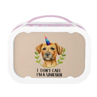 """""""ik ben de Illustratie van de Hond van de Stier Lunchbox"""