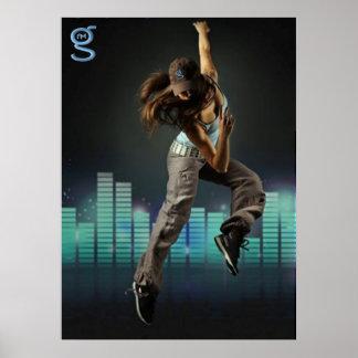 Ik ben de Kleding van G - het Poster van de Dans