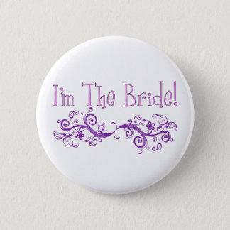 Ik ben de Knoop van de Bruid Ronde Button 5,7 Cm