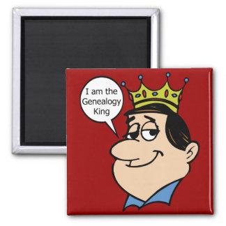 Ik ben de Koning van de Genealogie Vierkante Magneet