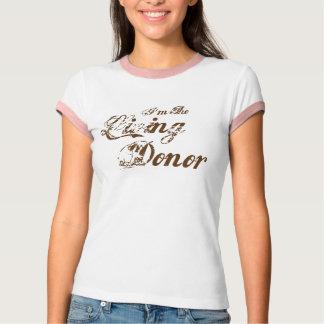 Ik ben de Levende Donor - bruine wijnoogst T Shirt