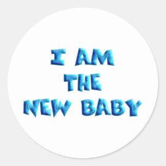 Ik ben de Nieuwe jongen van het Baby Ronde Stickers