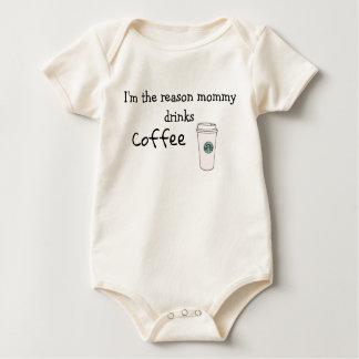 Ik ben de redenmama drink koffie baby shirt