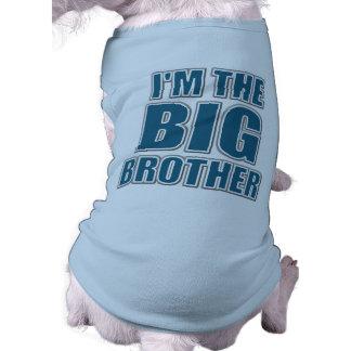 Ik ben de T-shirt van de Hond van de Grote Broer Mouwloos Hondenshirt