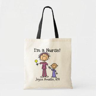 Ik ben de T-shirts en de Giften van een Verpleegst Draagtas