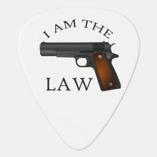 Ik ben de wet met een handpistool plectrum