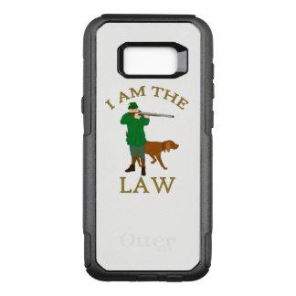Ik ben de wet met een landbouwer met een pistool OtterBox commuter samsung galaxy s8+ hoesje