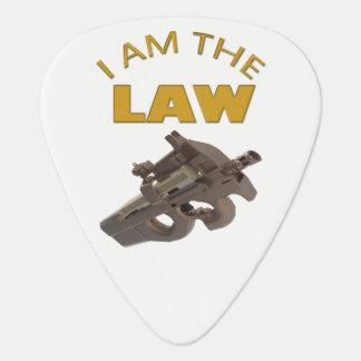 Ik ben de wet met een m4a1 machinegeweer plectrum