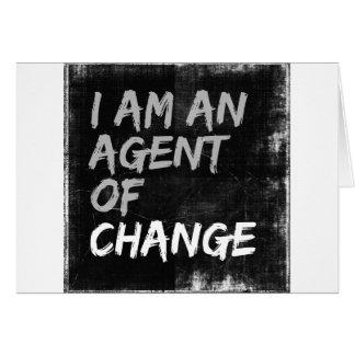 Ik ben een Agent van Verandering Briefkaarten 0