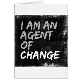 Ik ben een Agent van Verandering Wenskaart