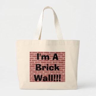 Ik ben een Bakstenen muur!!! Jumbo Draagtas