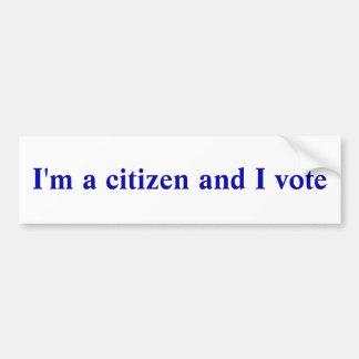 Ik ben een burger en ik stem bumpersticker