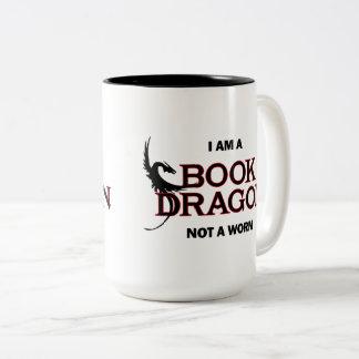 Ik ben een Draak van het Boek, niet een Worm Tweekleurige Koffiemok