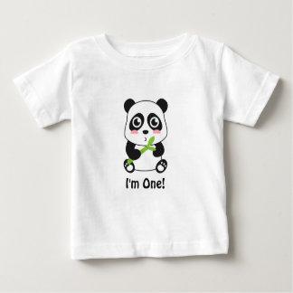 Ik ben Één, Eerste Verjaardag, de Leuke Panda van Baby T Shirts