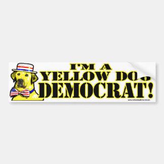 Ik ben een Gele Sticker van de Bumper van de Democ