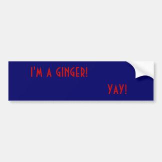 ik ben een gember! , yay! bumpersticker